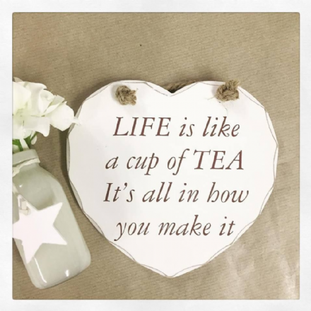 50% OFF Life Is Like A Cup Of Tea Heart